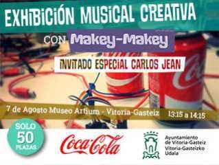 Exhibición musical en Vitoria con Makey Makey
