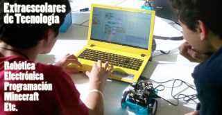 Extraescolares de Camp Tecnologico ser realizan en los centros de enseñanza o en las sedes repartidas por la ciudades con talleres de Robotica Educativa, programacion de videojuegos, electronica divertida o minecraft