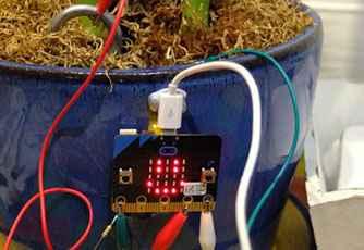 tecnologia para niños en bilbao. Micro:bit, happy plant