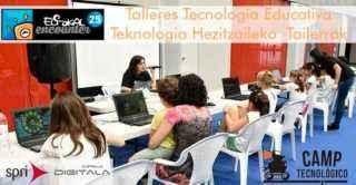 Euskal Encounter 24 con talleres de Camp Tecnologico formacion para niños/as y adolescentes en robotica educativa, programacion, electronica